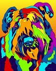 Made in USA Multi-Color Bouvier Dog Breed Matted Print Wall Decor