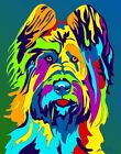 Made in USA Multi-Color Briard Dog Breed Matted Print Wall Decor