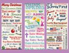 *HOLIDAYS & EVENTS* PHRASE STICKERS January - December Easter Xmas Halloween