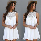 Summer Women Casual Sleeveless Evening Party Beach Dress Short Mini Dresses New