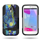 For BLU Life One M - Dual Layer Hybrid Kickstand Design Phone Cover Case
