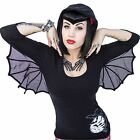 Kreepsville 666 Bat Wing Hooded Tunic Top Tunic Dress Top Goth Psychobilly Punk*