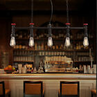 Edison Waterpipe Vintage Industrial Ceiling Droplight Pendant Lamp Cafe 5 Lights
