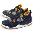 Nike Air Jordan 4 IV Retro Midnight Navy/Gold Leaf Dunk From Above 308497-425