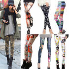 2016 Women's Punk Pattern 3D Print Leggings Stretchy Jeggings Pencil Tight Pants