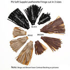 Neotrims PU Faux Leather Fringe Tassel Trimming, Soft Drape, 10, 15 & 20cms Long
