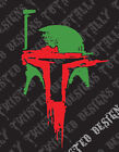 Star Wars Boba Fett Helmet abstract car truck vinyl decal sticker mandalorian $5.99 USD on eBay