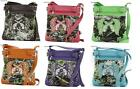 CONCEALED WEAPON CARRY HAND GUN PISTOL WINGS CAMO CROSS BODY MESSENGER BAG PURSE
