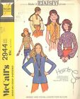 McCall's 2944 Misses'/Juniors' Blouse 13/14   Sewing Pattern