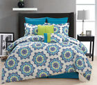 12 Piece Christina Blue/Green Bed in a Bag Set
