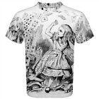 Alice in Wonderland Playing Cards Sublimated Mens T-Shirt S,M,L,XL,2XL,3XL