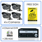 Samsung Home SECURITY SYSTEM 4 Channel DVR CCTV CAMERA KIT Outdoor SET iPhone 7