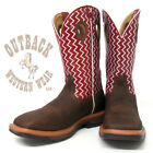 Twisted X Men's Brown Cherry Lite Square Toe Work Boots MLCW001