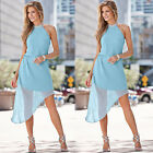 Womens Sexy Boho Chiffon Mini Dresses Ladies Summer Beach Party Dress Sundress