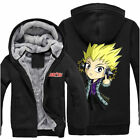 Hot Anime Fairy Tail Laxus Unisex Thicken Jacket Sweater Hoodie Coat Cosplay