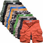 Fashion MensCasual Military Army Combat Shorts Overall Camo Pants Cargo Trousers
