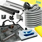Central Vacuum Electric Attachment Kit Powerhead, 30 Ft Hose Tools Fit All