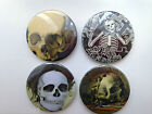 Skeleton ~ Skull Hand Made Mini Mirror Magnet Key Ring Gothic Death Emo Wicca