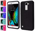 For LG K10 New Ultra Thin Rugged Silicone Gel Skin Rubber Cover Case