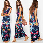 Sexy Women Floral Summer Beach BOHO Party Evening Vintage Long Dress Sundress
