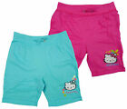 Girls Official Hello Kitty Turn Up Summer Cotton Fashion Shorts 4 6 8 10 Years