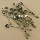 Lapel Pin Coat Stick Pin Clutches Setting Brooches Bronze-coloured Tone DIY