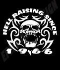 50th Birthday T-Shirt Personalise With Year Of Choice Hell Raising Since