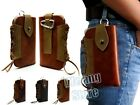 CowBoy Premium Leather Belt Holster Multi-function Pouch Bag Case For Cell Phone