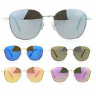 SA106 Retro Vintage Style Flat Color Mirror Lens Metal Rectangular Sunglasses