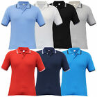 Mens Short Sleeved Tipped Pique Polo Shirts
