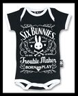 TROUBLE MAKER HARLEY DAVIDSON JACK DANIELS SIX  BUNNIES KIDS T-SHIRT 2-10 YEARS