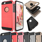 Hybrid Rubber Shockproof Brushed Slim Case Cover For iPhone 4s 5s SE 6 6s 7 Plus