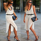 COOL Sexy Women Summer Chiffon Casual Long Maxi Beach Evening Party Shift Dress