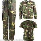 BOYS ARMY OUTFIT CAMO TROUSERS T-SHIRT JACKET HOODIE DRESS UP COSTUME KIDS