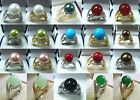 12mm white pink gray black red coffee green black shell pearl jade 18 KGP ring