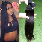 4 Bundles Brazilian Virgin Straight 100% Human Hair Extensions 200g UK STOCK