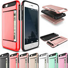 ShockProof ID Card Pocket Slim Hybrid Wallet Clip Case For iPhone 6 6s Plus