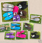 WOMEN / GIRLS SLIP ON CASUAL PUMPS CANVAS PLIMSOLLS SHOES SIZE 2 - 7 FREE P&P