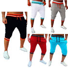 Fashion Mens Jogger Casual Pants Sportwear Harem Gym Cargo Shorts Trousers 3/4