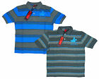 Boys Red Tag Stripe Polo Logo Collared T-Shirt Cotton Top Tee 3 to 10 Years