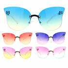 SA106 Womens Oceanic Color Gradient Butterfly Rimless Fashoin Sunglasses