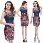 Ever Pretty Women's Simple Fashion Round Neck Short Casual Party Dress 05442