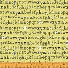 Windham Fabric Yellow Type Letters 100% Cotton Sew Quilt FQ 1/2m Meter FREEPOST
