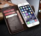 Authentic Real Leather Wallet Card Flip Case Cover For iPhone X 6S 7 8 Plus S001