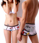 Disney Underpants Underwear Women Brief Couple Brief Boxer Mickey Pink U-02