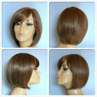 HIGH HEAT RESISTANT FIBRE CLASSIC BOB LADY WIG WITH SKIN TOP PARTING S-20