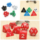 7pcs TRPG Games Dungeons & Dragons Opaque D4-D20 Multi Sides Dice 7 Color