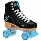 New! Black & Teal Candi Girls Sabina High Top Quad Roller Skates by Roller Derby