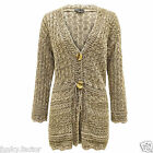 Women Ladies Knitted Plus Size CROCHET Boyfriend Button Shrug Cardigan Dress Top