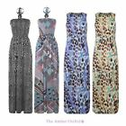 BRAVE SOUL LADIES WOMENS ZEBRA HALTER BATEAU RETRO LEOPARD NECK MAXI DRESS S-L